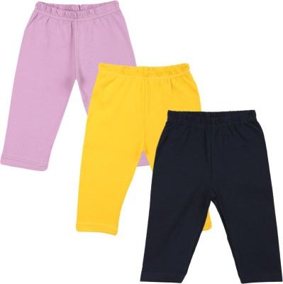 Color Fly Baby Girl's Purple, Dark Blue, Yellow Leggings