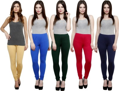 Pistaa Women's Beige, Blue, Dark Green, Pink, Dark Blue Leggings