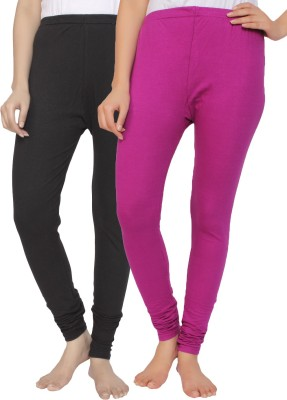 Krazy Katz Women's Black, Pink Leggings