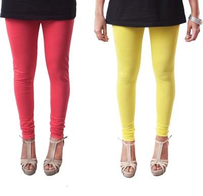 amie Women's Yellow, Pink Leggings