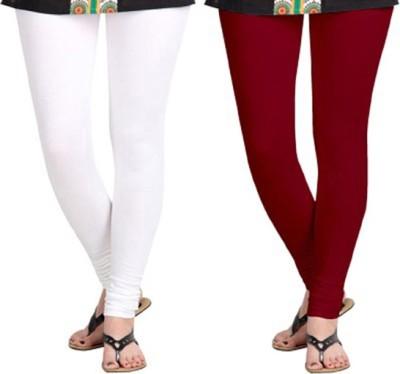 shivam Garments Women's White, Brown Leggings
