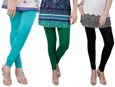 Bembee Women's Light Blue, Green, Black Leggings