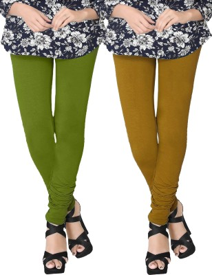JV Wears Women's Green, Yellow Leggings