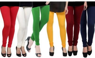 Fashion Zilla Women's Red, White, Green, Yellow, Maroon, Dark Blue Leggings