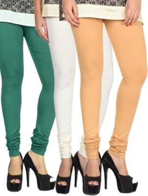 17.Hills Womens Green, White, Beige Leggings