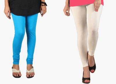Saree Exotica Women's Blue, White Leggings