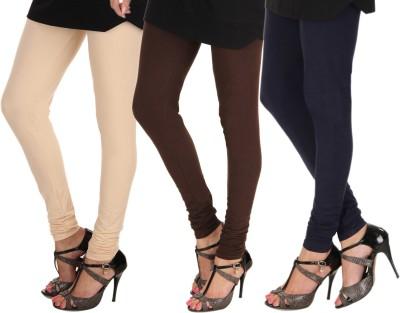 Itnol International Women's Beige, Brown, Blue Leggings