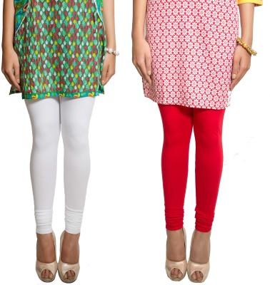 Red Saffron Women's White, Red Leggings