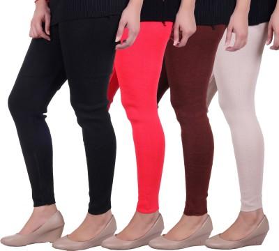Sellsy Women's Black, Orange, Brown, White Leggings
