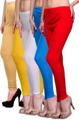 Rowena Women's Beige, Yellow, White, Light Blue, Red Leggings