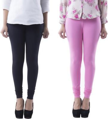 Prashil Women's Black, Pink Leggings