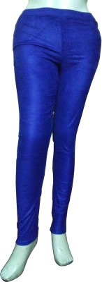 Miraaya Womens Blue Jeggings