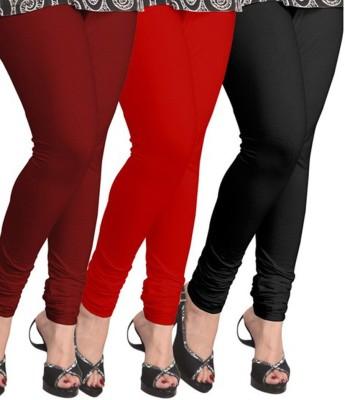 Roma creation Women's Maroon, Red, Black Leggings