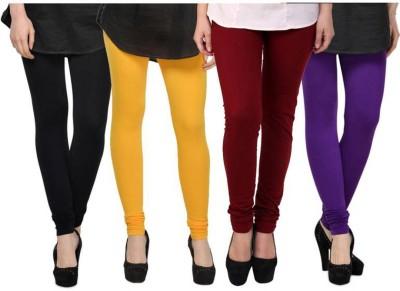 Fashion Zilla Women's Black, Yellow, Maroon, Purple Leggings