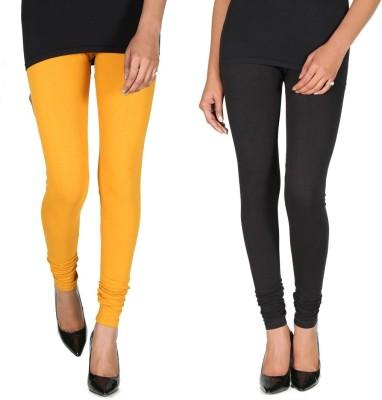 Ally Of Focker Women's Black, Yellow Leggings