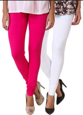Fasense Women's Pink, White Leggings