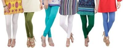 Prekrasna Women,s Beige, Light Green, Light Blue, White, Green, Blue Leggings