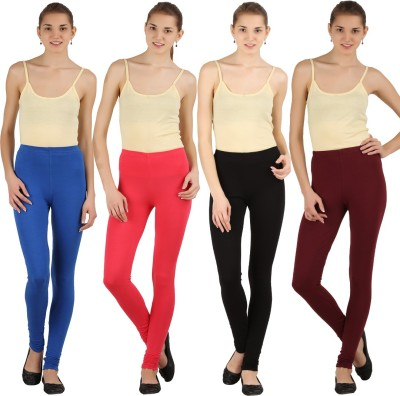 Silvio Women's Light Blue, Pink, Black, Brown Leggings