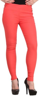 Ansh Fashion Wear Women's Orange Jeggings