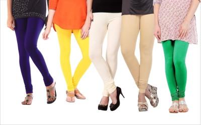 Melisa Women's Blue, Yellow, Beige, White, Green Leggings