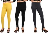 Comix Women's Yellow, Black, Black Leggi...