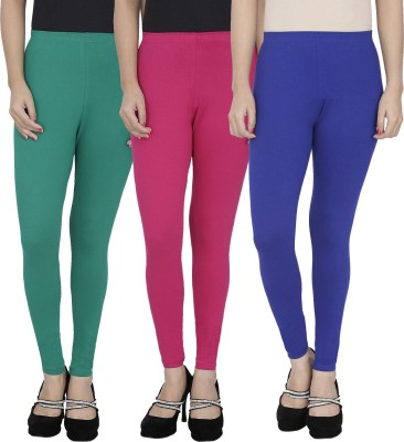Anekaant Girl's Green, Pink, Blue Leggings