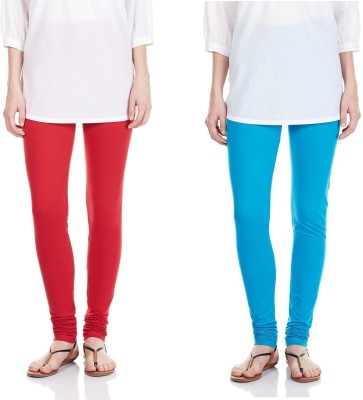 SRS Women's Red, Light Blue Leggings