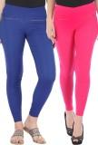 Bitterlime Women's Pink, Blue Jeggings (...