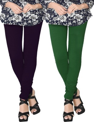 JV Wears Women's Dark Blue, Green Leggings