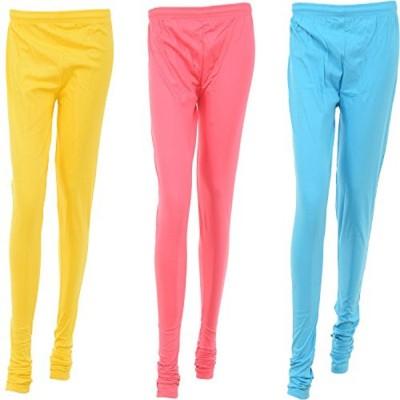 Too Cute Women's Yellow, Pink, Light Blue Leggings