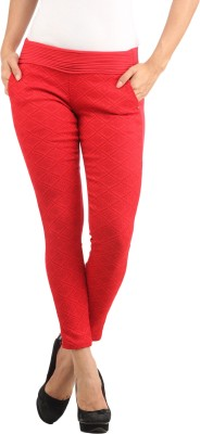 Lotus Women's Red Jeggings