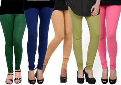 Kjaggs Women's Blue, Dark Green, Green, Beige, Pink Leggings