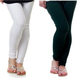 Archway Women's White, Green Leggings (P...