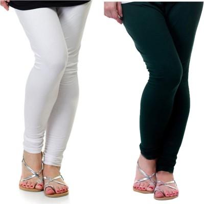 Archway Women's White, Green Leggings