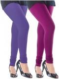 Slassy Women's Purple, Pink Leggings (Pa...