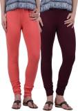 American-Elm Women's Orange, Maroon Legg...