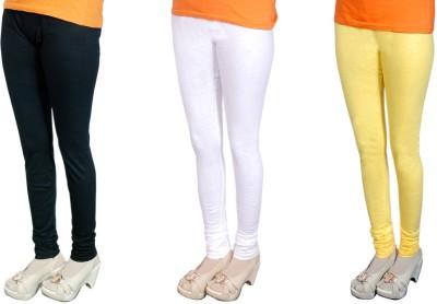 Radhika Garments Women's Black, White, Yellow Leggings