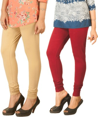 Berries Women's Beige, Maroon Leggings