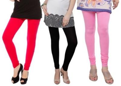 Prekrasna Women,s Red, Black, Pink Leggings