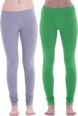 Spictex Girl's Grey, Green Leggings