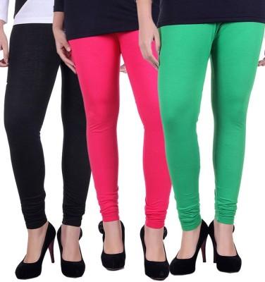 divine creations Women,s Black, Pink, Green Leggings