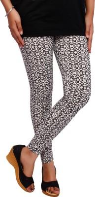 Fine Colors Women's White, Black Leggings