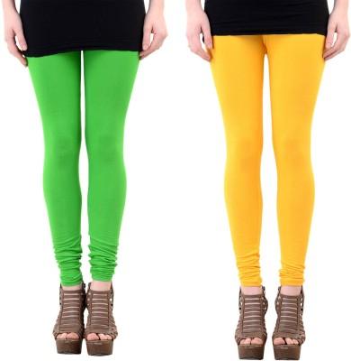 Mynte Women's Yellow, Green Leggings