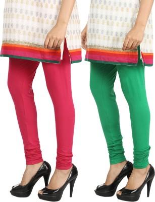 Bodymist Women's Green, Maroon Leggings