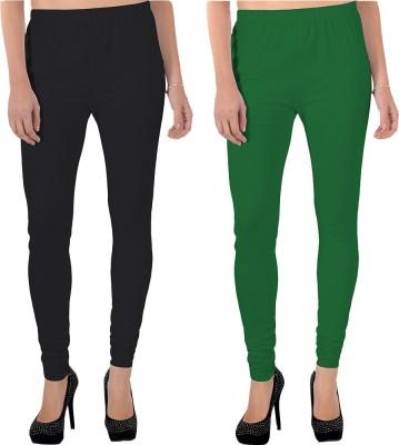 X-Cross Women's Black, Green Leggings