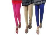 LatestQ Women's Pink, Beige, Blue Leggin...