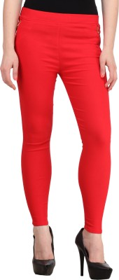 PRIHO Women's Red Jeggings