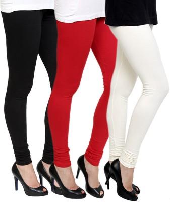 Pannkh Women's Black, Red, White Leggings