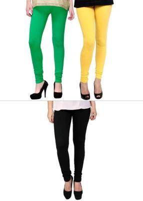 Lavennder Women's Light Green, Yellow, Black Leggings
