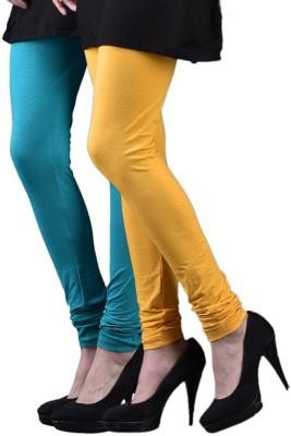 divine creations Women,s Yellow, Light Blue Leggings